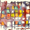 #1006 Abstract Watercolor