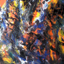 #1093 abstract oil painting by Willard