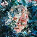 #1158 Shattered Glass Oil on Canvas