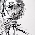 #1179 Pen & Ink, drawing, Willard Art