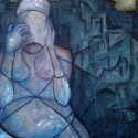 #1216 Oblivion, Oil on Canvas, Expressionist Painting